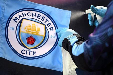 Darf Manchester City weiter international spielen?. Foto: Laurence Griffiths/Nmc Pool/PA Wire/dpa