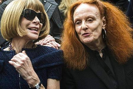 Zwei Mode-Ikonen: Anna Wintour und Grace Coddington. Foto: picture alliance / dpa